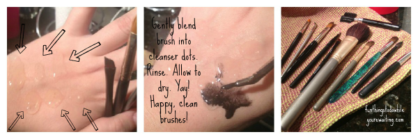 Cleanser Dots for Brush Cleaning