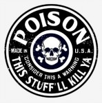 A poison label
