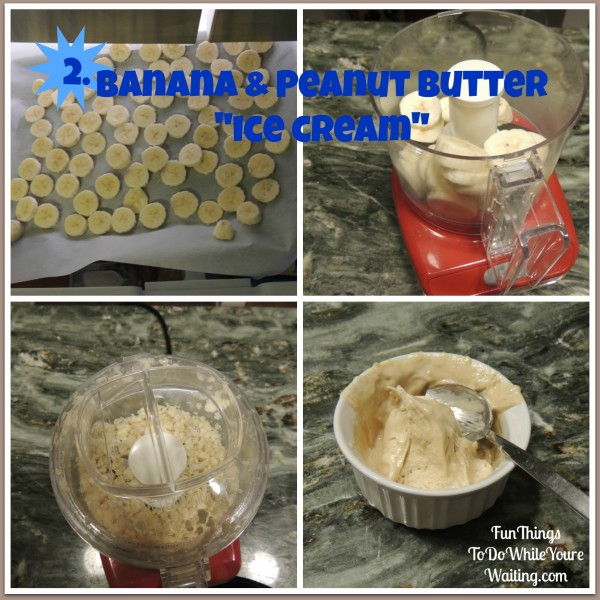 Banana Peanut Butter Ice CreamCollage