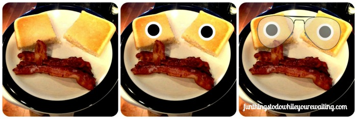Baked Pancake Square Eyes