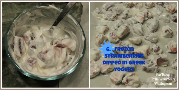 Strawberry and Yogurt Collage