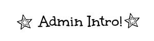 Admin Intro