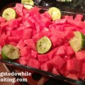 watermelon with lime