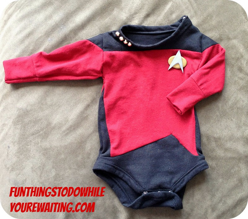 Finished Star Trek Captains Onesie