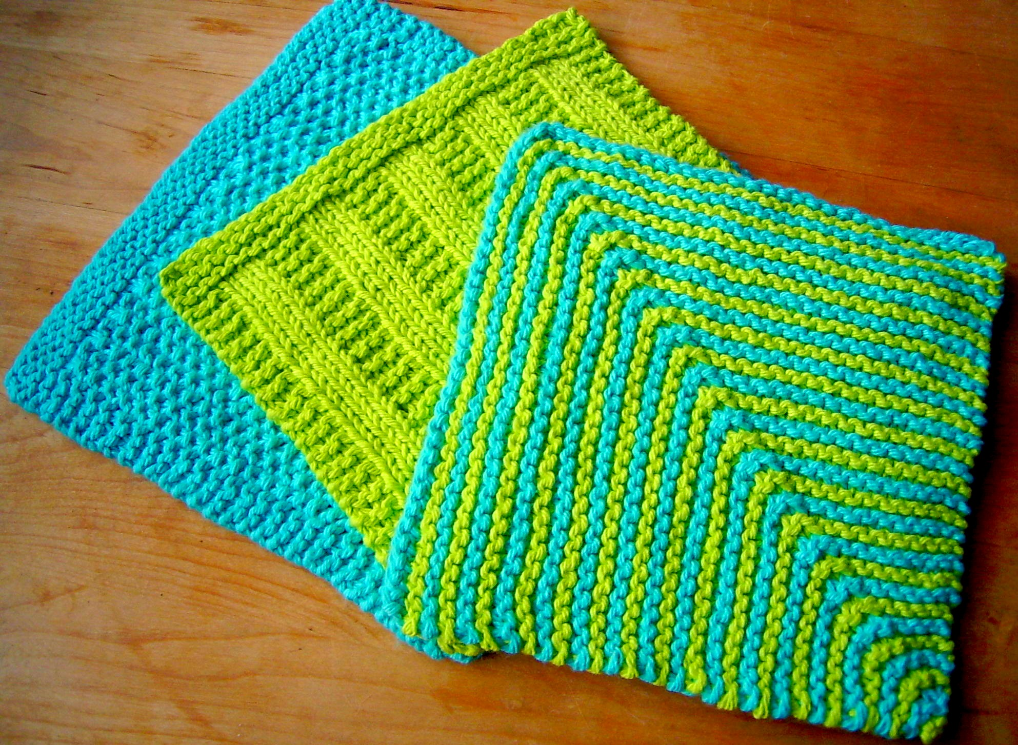 Knitted Dish Towel Pattern Awesome Decorating