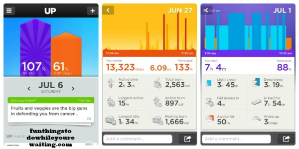 Interface of UP by Jawbone