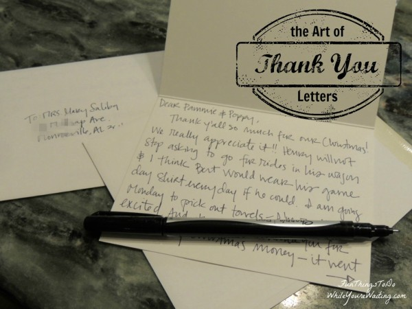 the Art of Thank You Letters