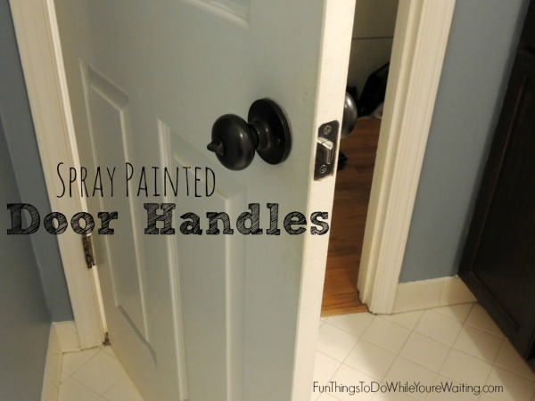 Spray Painted Handles
