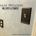 foam stamp: wallpaper alternative