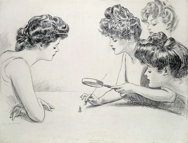 """The Weaker Sex,"" illustration by Charles Dana Gibson"