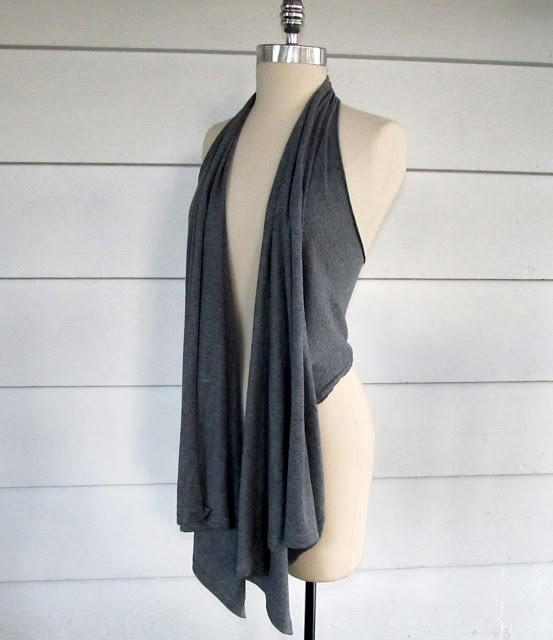 T-Shirt Mod Draped Vest from Wobisobi.com