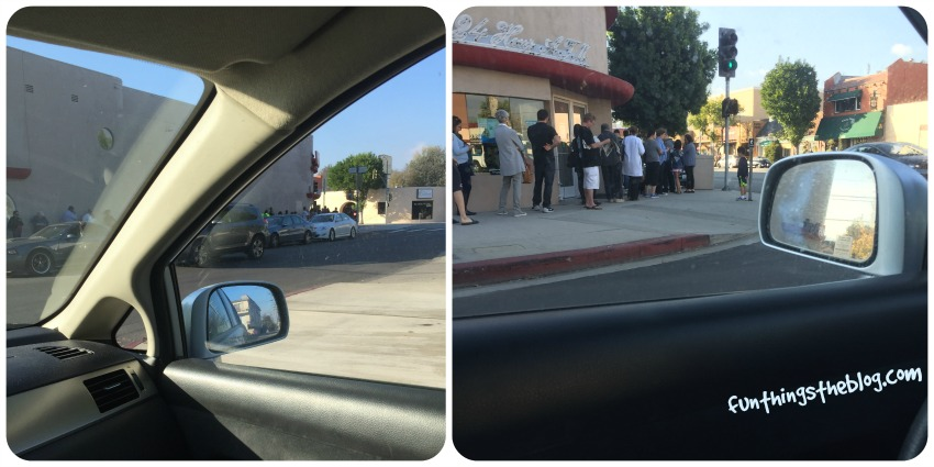 The Line Outside the Honey Baked Ham Store in Burbank