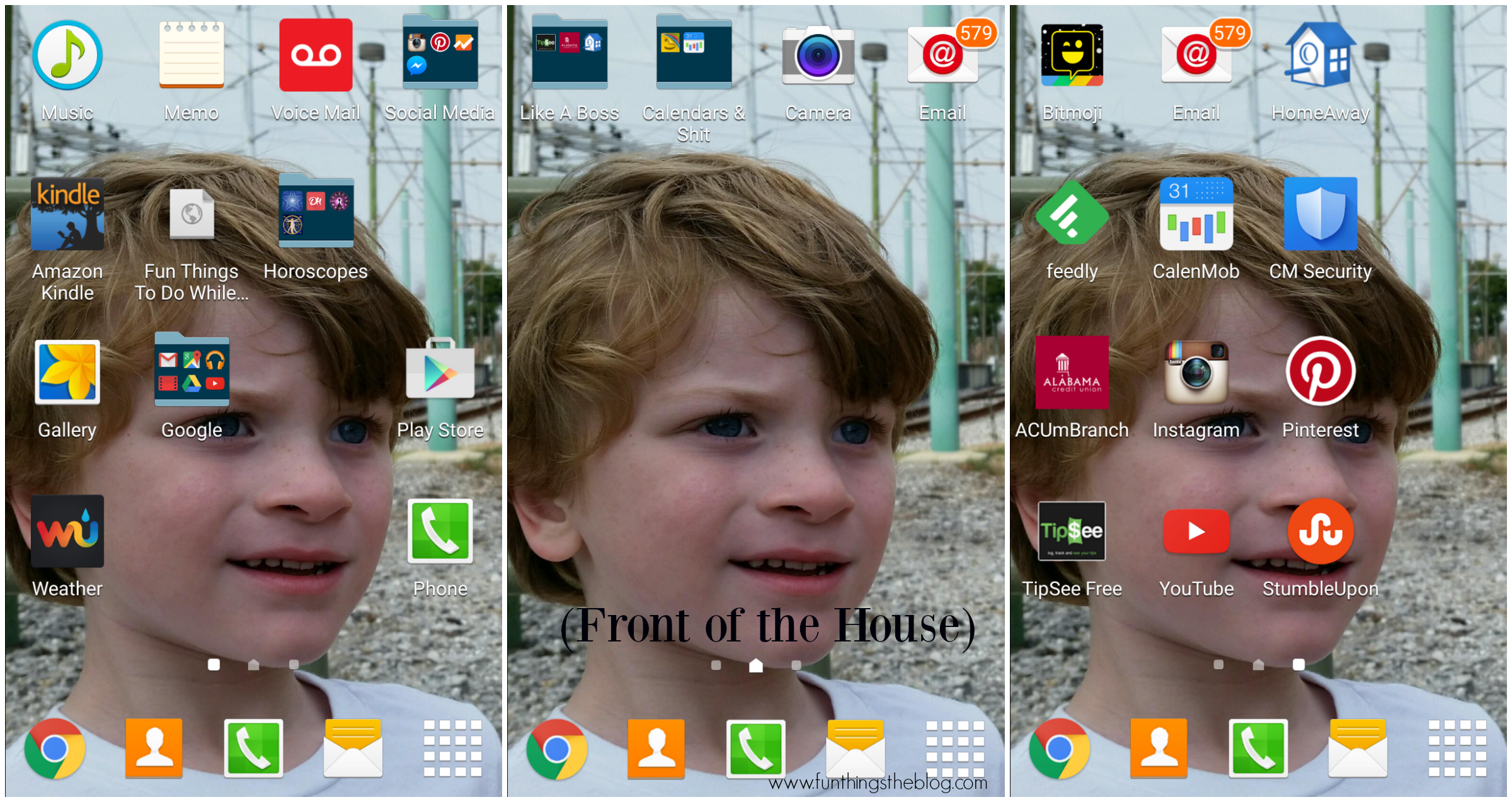 Front of the House Home Screens