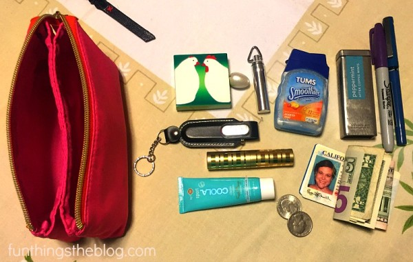 My bug out bag all organized.