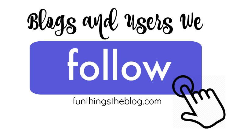 Users and Blogs that we follow.