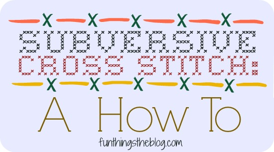 Subversive Cross Stitch: A How To from Fun Things The Blog