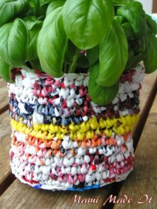 Recycled Bag Plant Holder