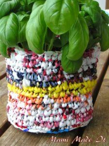 Recycled Bag Plant Holder